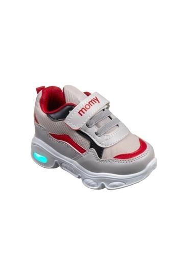 Momykids Spor Ayakkabı Anatomik Erkek Çocuk Işıklı 50101 Kırmızı